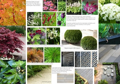 Garden Design Mood Board garden design services - bea ray garden design