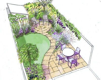 for - Garden Design Drawing